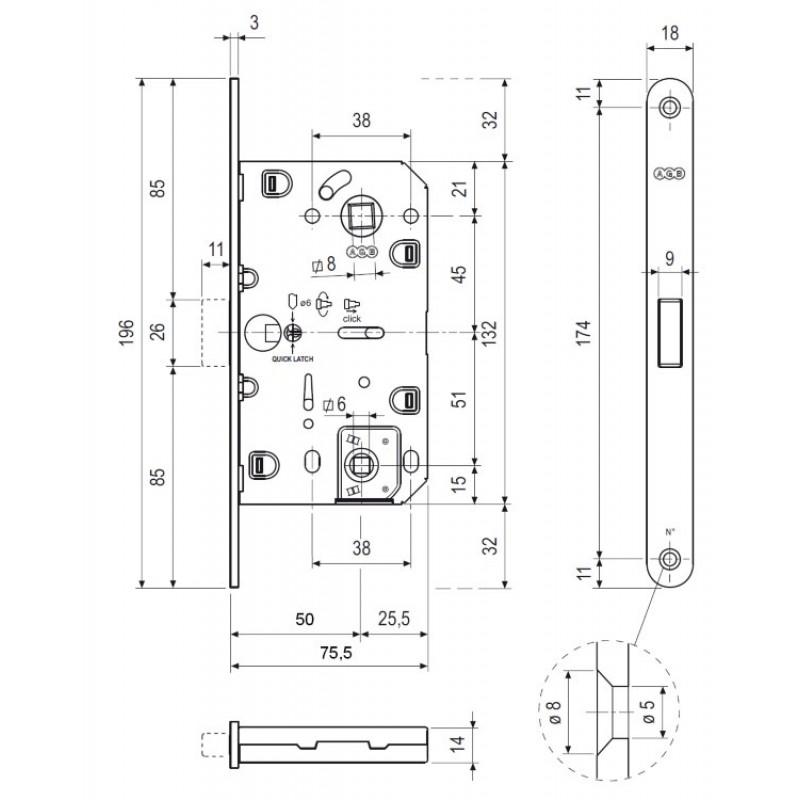 Магнитный замок AGB Polaris CH WC